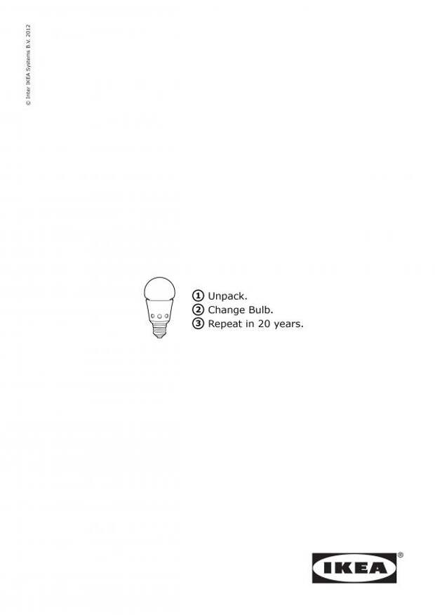 IKEA Bulb, IKEA, JWT Warsaw, IKEA International Group, Печатная реклама