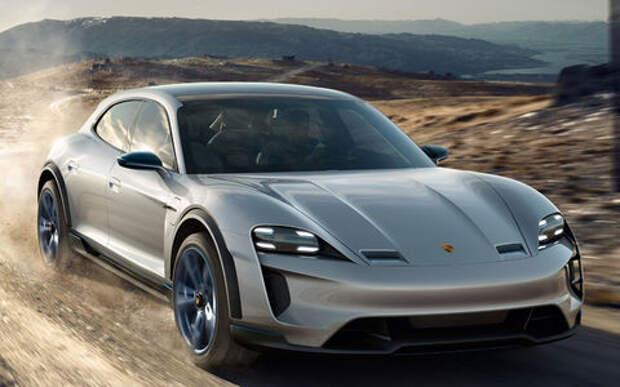 Первый прокат: Porsche показала электромобиль Taycan