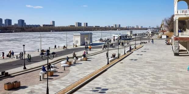 В парке Северного речного вокзала завершено обустройство зоны отдыха. Фото: М. Денисов mos.ru