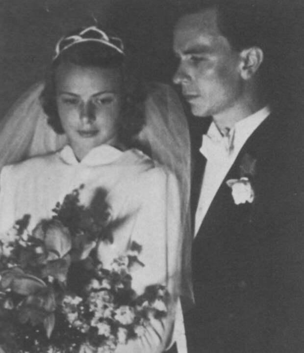 Свадьба Ингрид Бергман с первым мужем Петером Линдстромом. 10 июля 1937.