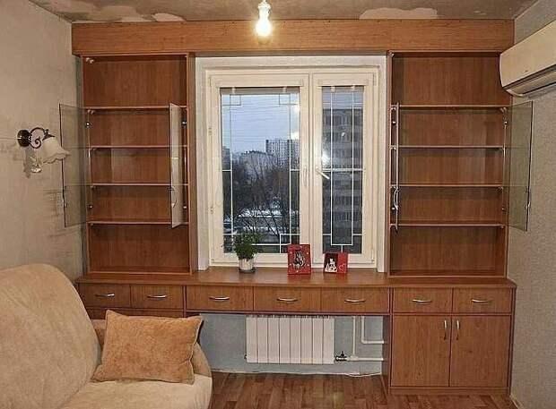 Шкаф вокруг окна (подборка разных интерьеров)