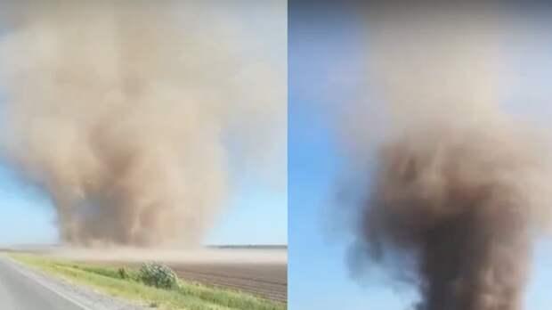 Очередной пыльный вихрь заметили в 20 км от Тюмени