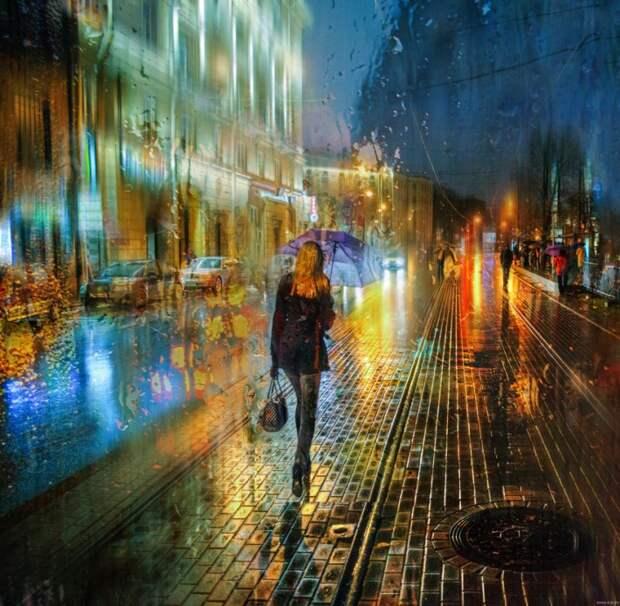 Дождливый Питер в фотоманипуляциях Эдуарда Гордеева