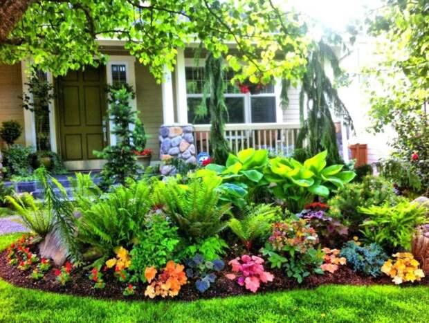 сад перед домом