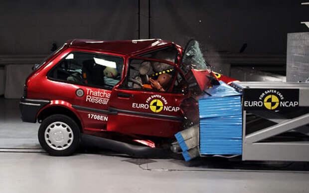 Euro NCAP отметил юбилей показательным шокирующим краш-тестом