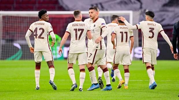 «Рома» вырвала победу у «Аякса» в концовке первого матча 1/4 финала Лиги Европы