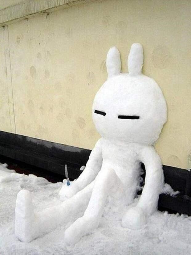 Вот что еще можно слепить из снега