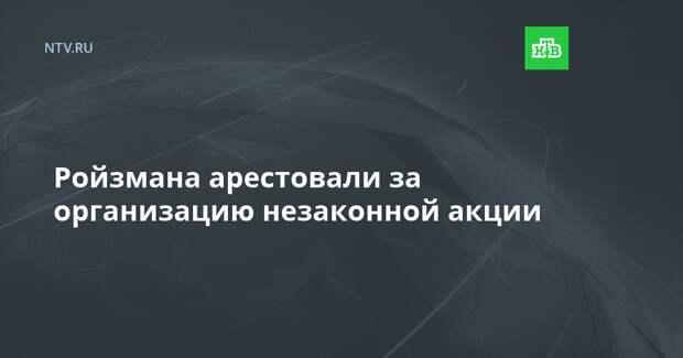 Ройзмана арестовали за организацию незаконной акции