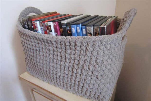 Вяжем крючком: 20 чудесных корзинок для хранения