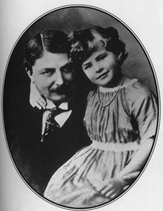 Шестилетняя Ингрид Бергман с отцом. Фото / Ingrid Bergman in childhood. Photo