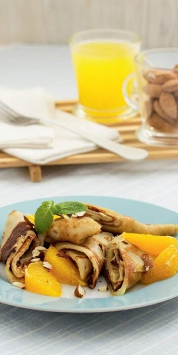 5 завтраков за 10 минут  - Банановые блинчики с апельсином, медом и миндалем - Портал Домашний