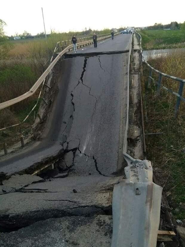 «Усталость» украинских мостов...от украинцев?