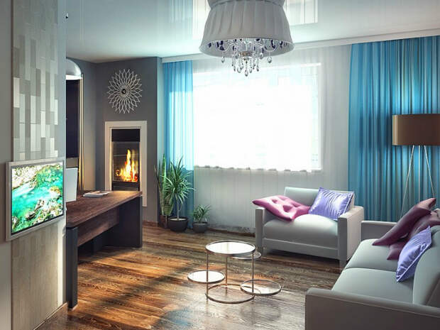 Современная гостиная без привязки к стилю.| Фото: yandex.kz.