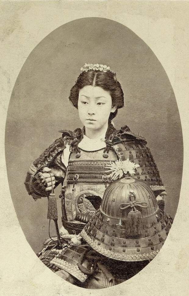 Фотография воина-самурая