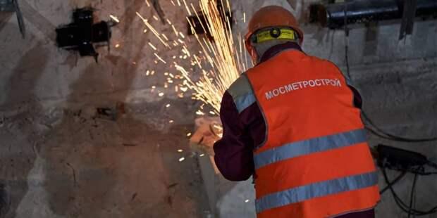 Собянин рассказал о ходе реконструкции станции метро «Каховская». Фото: М. Денисов mos.ru
