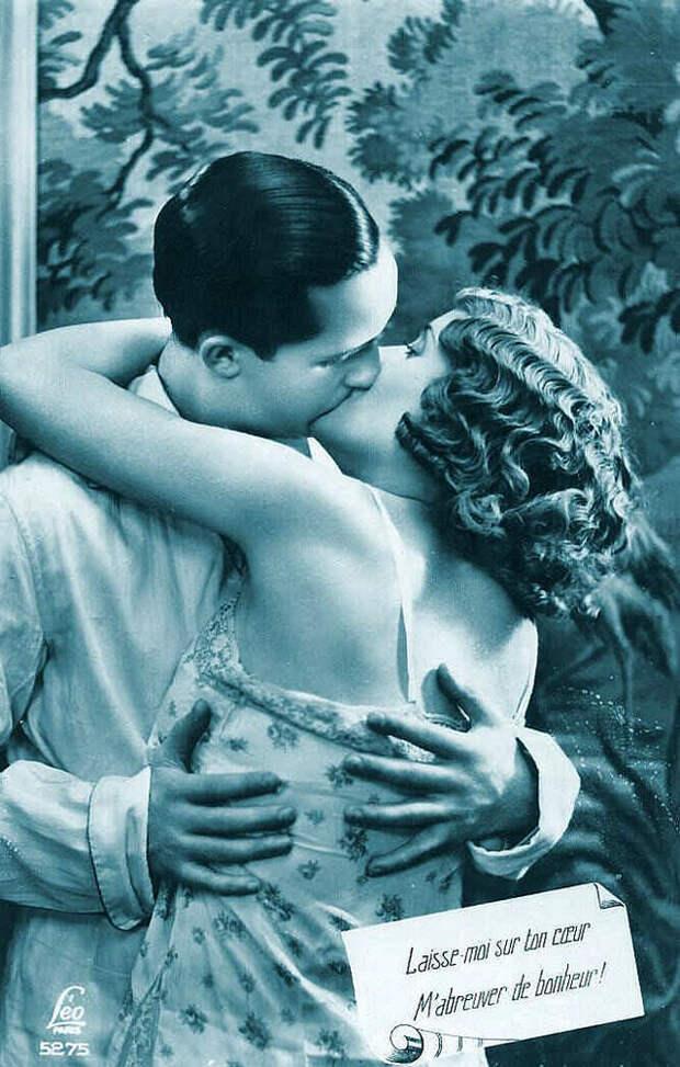 Французские открытки, в которых показано, как романтично целовались в 1920-е годы 8