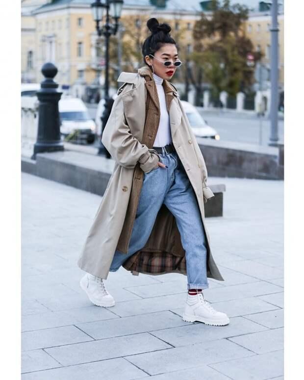 Как носить обувь на плоской подошве осенью 2020