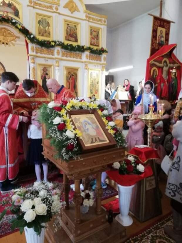 Пасхальное богослужение в нашем Храме. Пасха 2021 года.