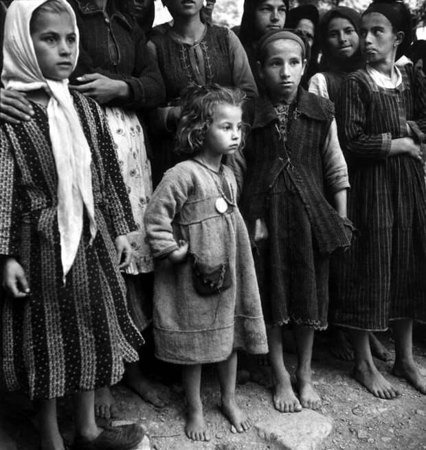 Греция, 1948 год - Дети-беженцы<