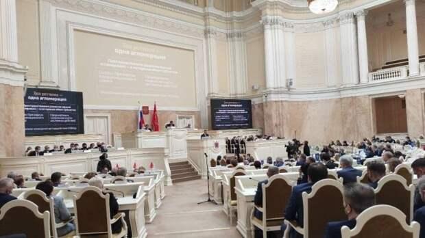 Губернатор Петербурга выступил с ежегодным отчетом