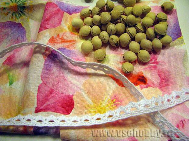 материалы для изготовления грелки с вишнёвыми косточками