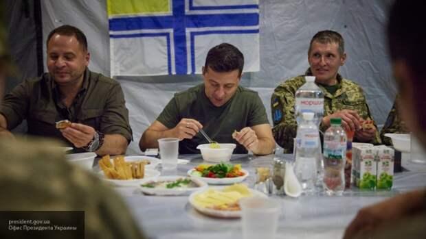 Зеленский оконфузился перед «голодными солдатами» ВСУ в Донбассе