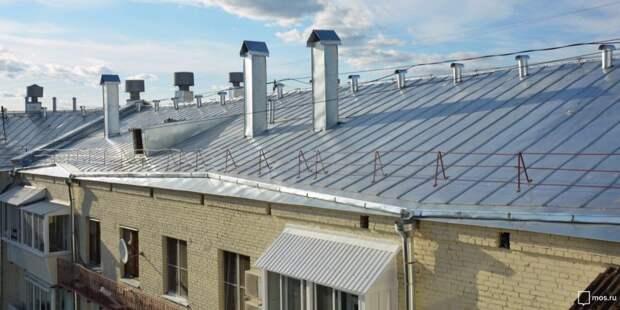 В четырнадцати домах Ростокина отремонтируют кровли крыш