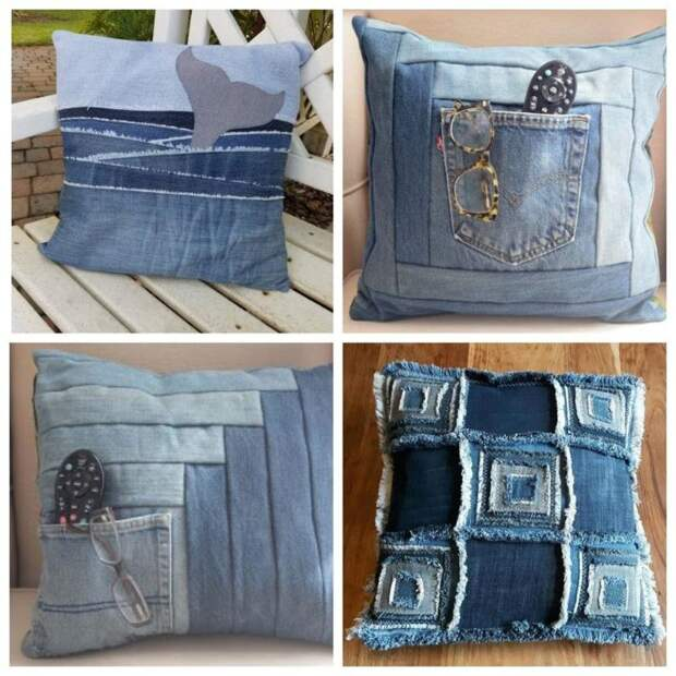 20+ нетривиальных идей использования старых джинсов
