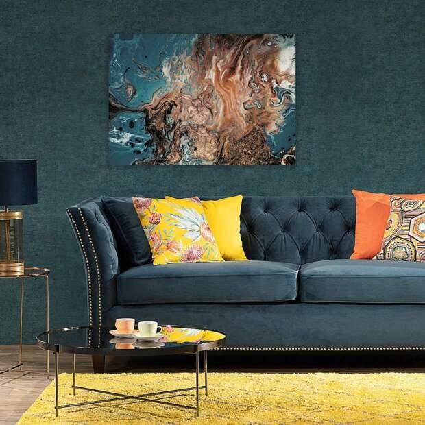 Dekoria.pl картина на холсте Puring Blue & Gold