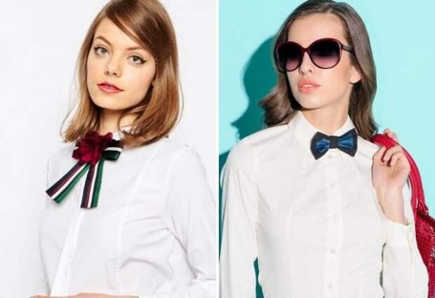 девушки в белых рубашках с галстуками