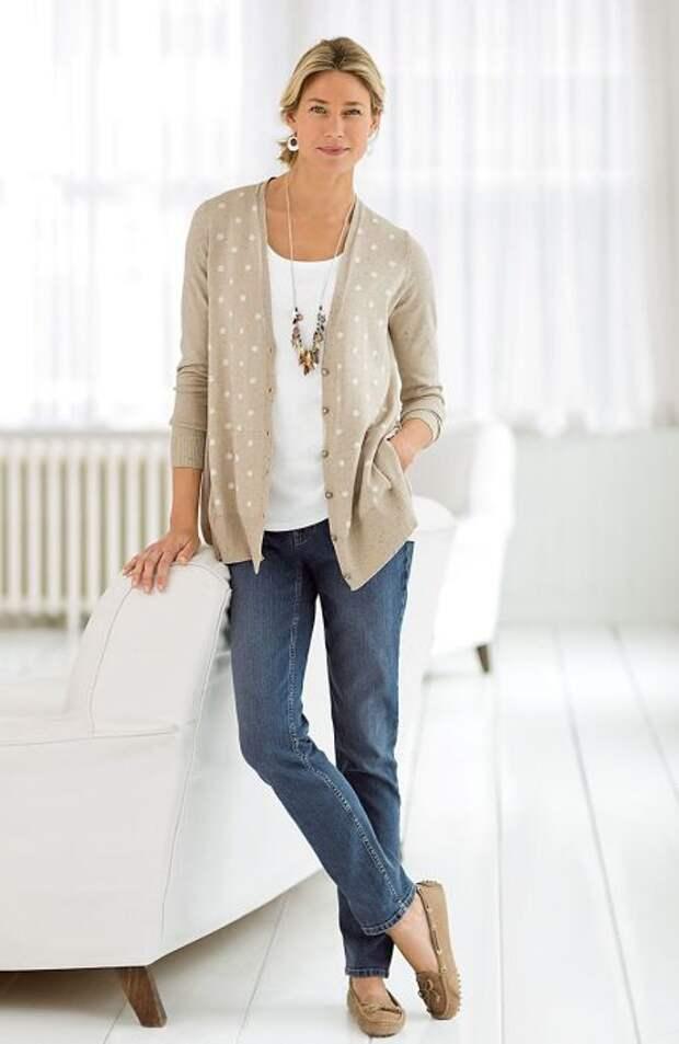 Мокасины – отличный вариант обуви для кэжуальных образов. /Фото: i.pinimg.com