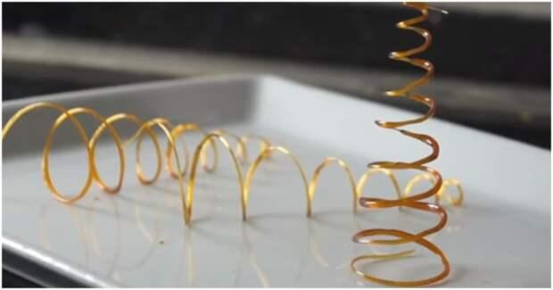 Хрупкий и изысканный декор из карамели для украшения новогодних десертов