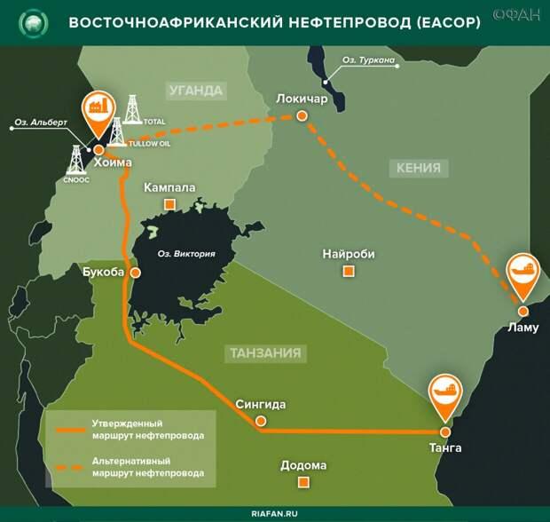 Эксперт исключил конкуренцию нефти из Уганды с российскими поставками