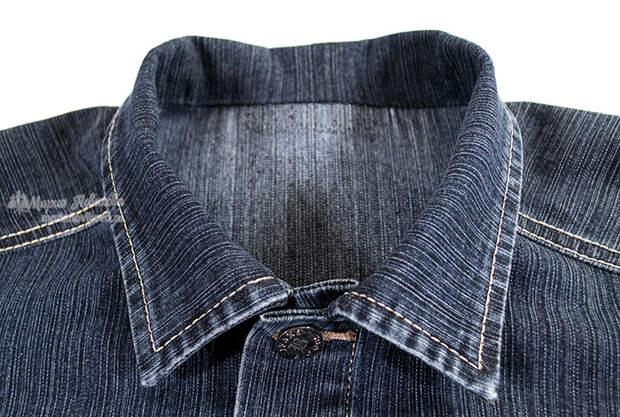 Готовый воротник в джинсовке