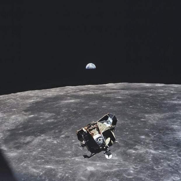9. Фотография сделана астронавтом Майклом Коллинзом (1969 г.)