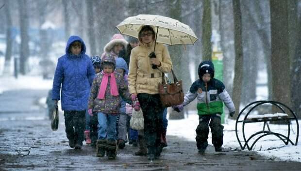 Мокрый снег и до плюс 3 градусов ожидается в Подольске в пятницу
