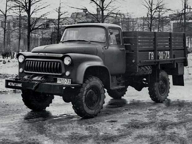 Переходный вариант. Опытный грузовой автомобиль ГАЗ-66А  история, люди, фото