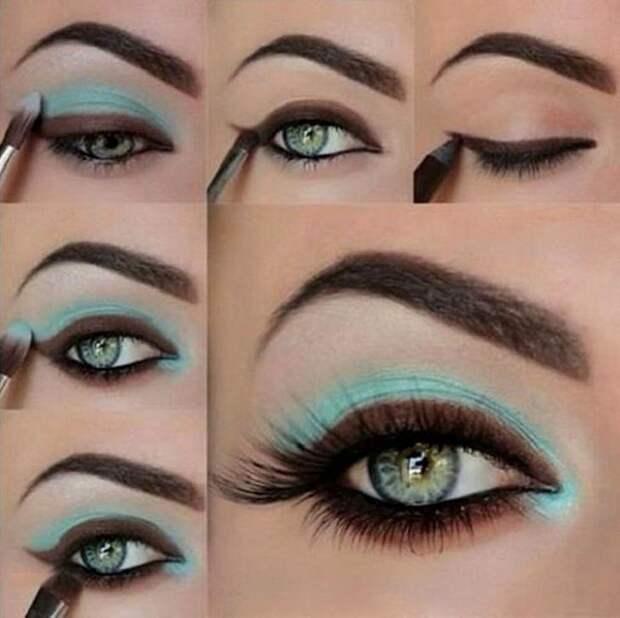 идеи для новогоднего макияжа, уроки макияжа