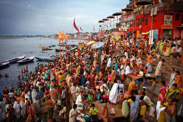 Закат в Варанаси, Индия красота, путешествия, фото