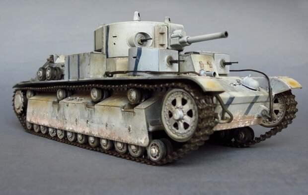 Советский  средний танк Т-28 об. 1938 года с 76,2мм орудием Л-10 война, история, своими руками