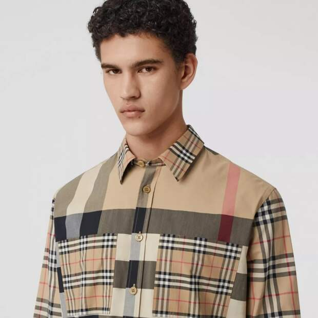 Клетчатые рубашки  Burberry