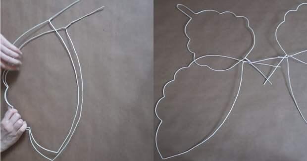 Забавная и интересная идея необычного использования металлической вешалки