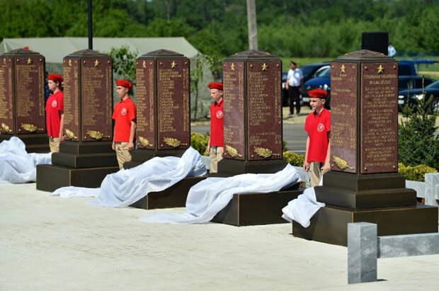 На Кубани открыли мемориал на месте братской могилы погибших в годы Великой Отечественной войны