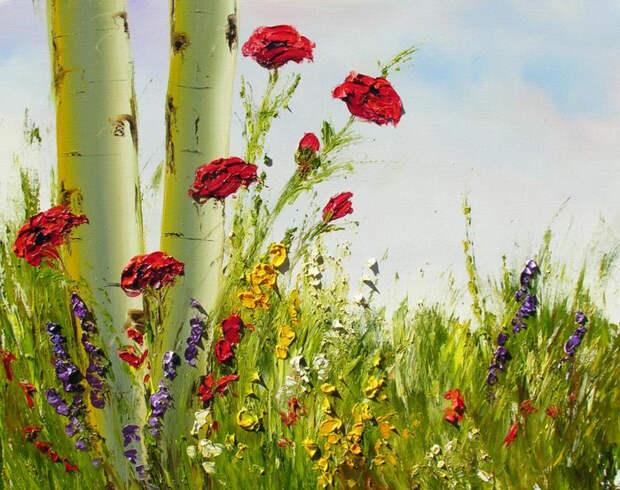 lg_4210_Aspens_and_Flowers (700x553, 494Kb)