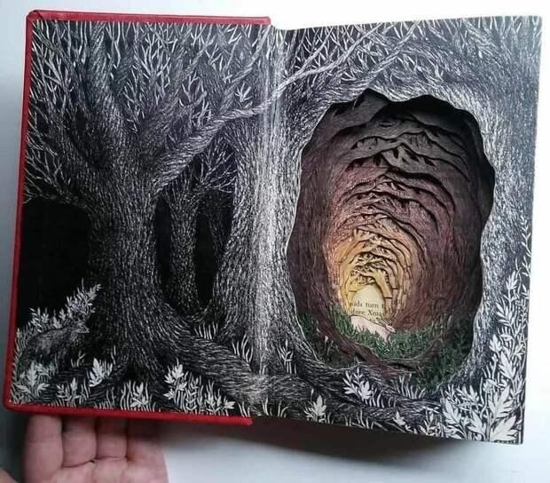 Ненужные книги превращаются... Изобель Узман дарит старым книгам новую удивительную жизнь