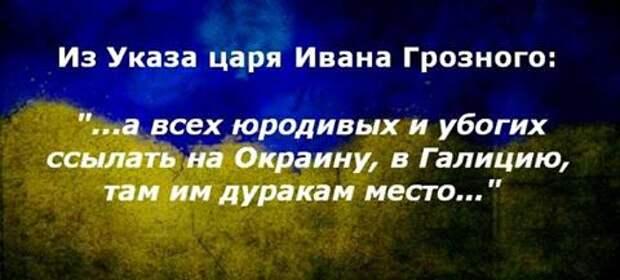 Из указа царя Ивана Грозного «… а всех юродивых и убогих ссылать на Окраину, там им дуракам место»