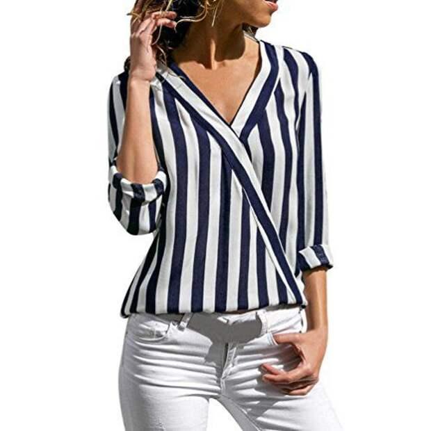 Блузки в полоску (подборка)