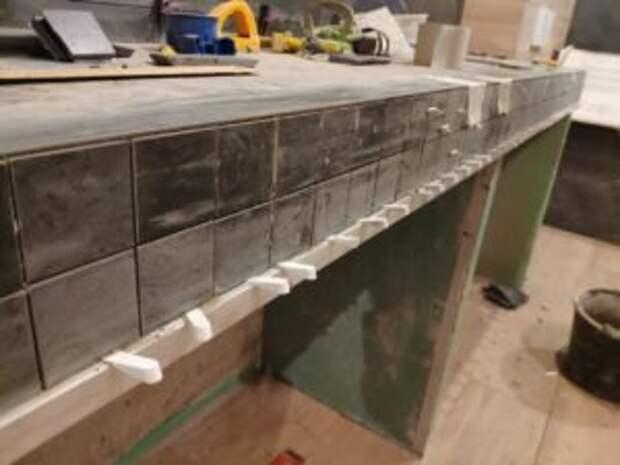 Столешница из плитки (керамогранита), идея которая экономит ваши деньги