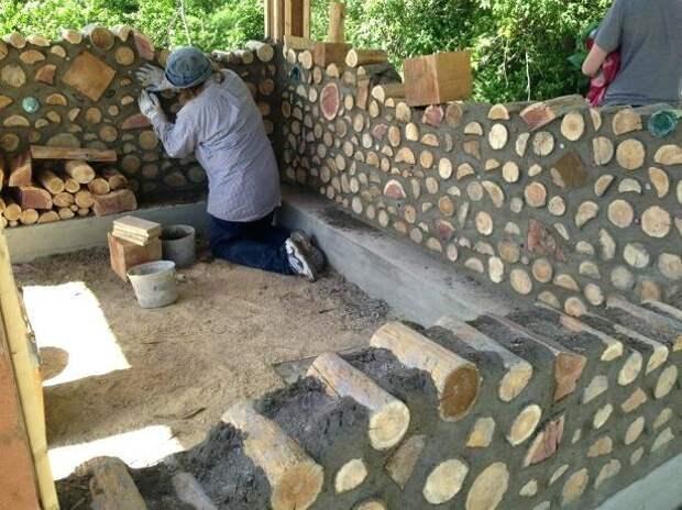 Построили тёплый дом из обычных дров Сстроительство, Дом, Деревянный дом, Длиннопост
