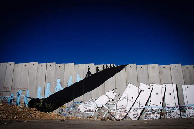 Стена между Израилем и палестинскими территориями, Вифлеем красота, путешествия, фото